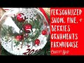 DIY CHRISTMAS ORNAMENTS; PERSONALIZED CLEAR ORNAMENTS WITH BERRIES AND GREENERY; ornament ideas