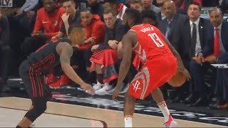 James Harden Shows Damian Lillard He Can't Be Guarded Even When Being Double Teamed! thumbnail