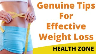 Genuine tips for weight loss | how to ...