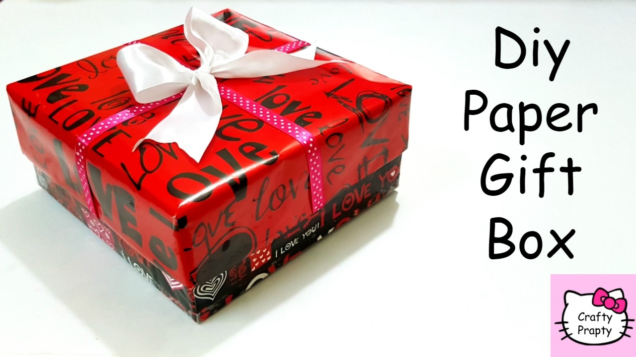 Diy Paper Gift Box/Valentineu0027s Day Gift Box/Diy Organizer/Valentineu0027s Day  Gift Idea/DIY Surprize Box   YouTube
