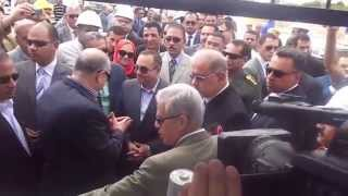 the moment of opening, Minister of Petroleum Ismailia Governor Taps natural gas