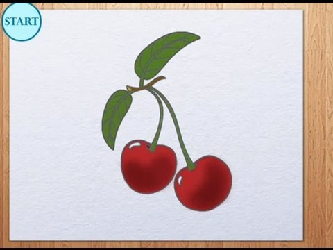 Cherries Drawing Pictures