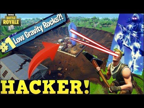DEFAULT HACKER USING HOP ROCK IN SEASON 5? - Fortnite Funny Moments 2