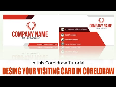 Learn how to design visiting card in coreldraw youtube learn how to design visiting card in coreldraw reheart Choice Image