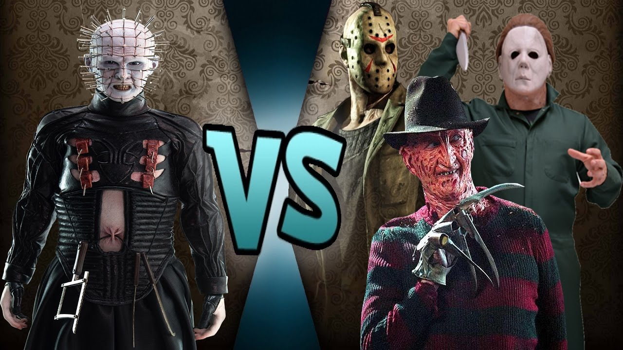 Freddy Vs Jason Vs Chucky Vs Michael Myers Vs Pinhead Pinhead vs Jaso...