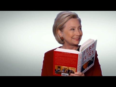 Hillary Clinton mocks Trump in Fire and Fury Grammys skit