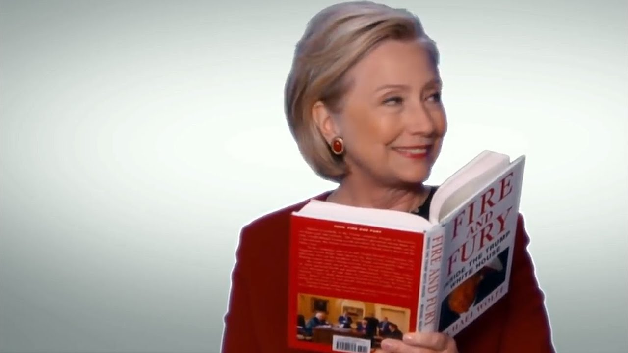 Download Hillary Clinton mocks Trump in Fire and Fury Grammys skit