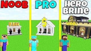 Minecraft Battle: NOOB vs PRO vs HEROBRINE: BANK CHALLENGE / Animation