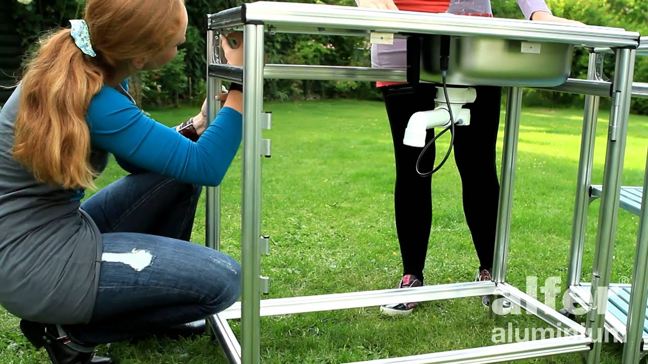 Outdoor Küche Bauen : Outdoor küche mit coaxis® system profilen youtube