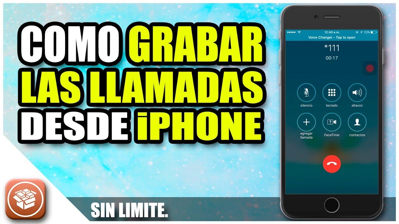 Grabador de llamadas gratis para iphone 6