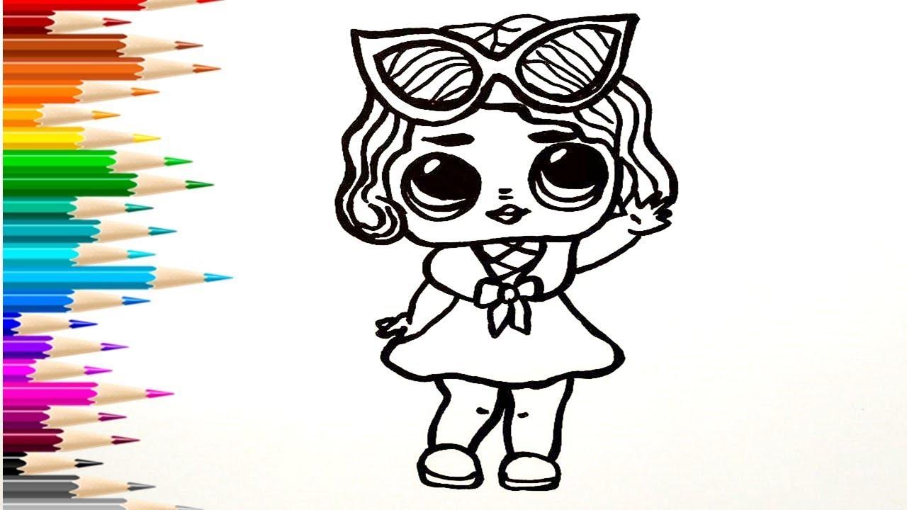 Как нарисовать ЛОЛ / Мультик раскраска для детей КУКЛА ЛОЛ ...