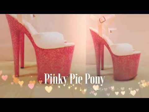 Bling It Heels Pinky Pie Pony Pole Dancing Shoes