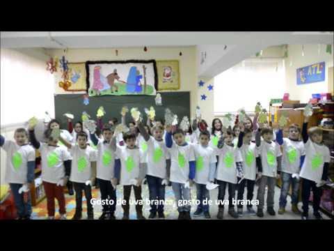 Hino da Fruta 2013/2014 -- Turmas 1, 2, A, B, C e D, Escola Básica de Tagilde - Vizela -- Braga