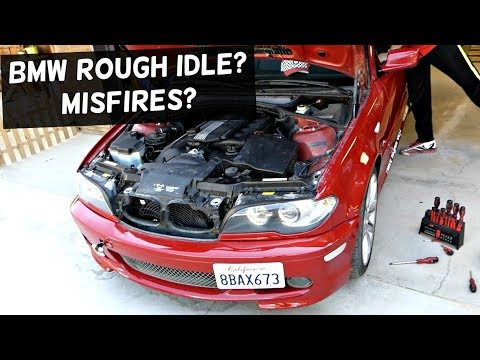 BMW ROUGH IDLE MISFIRE FIX demonstrated on BMW E46