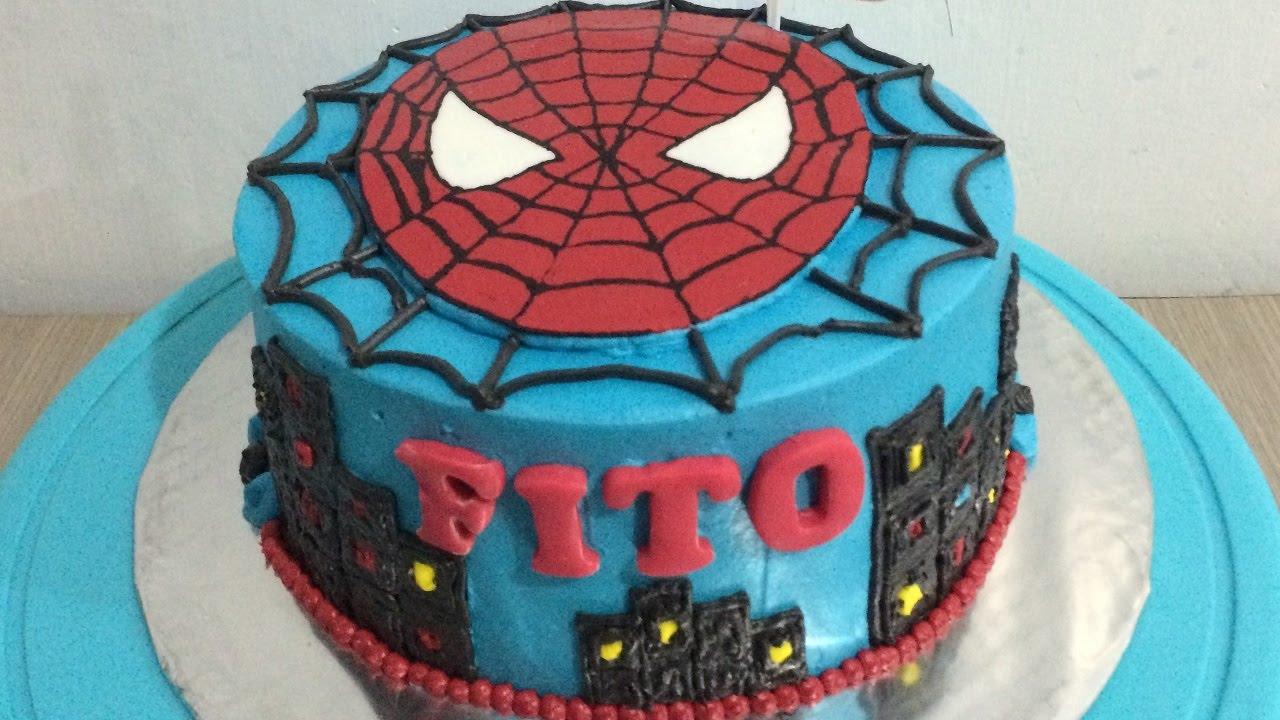 Spiderman Cake Decoration YouTube