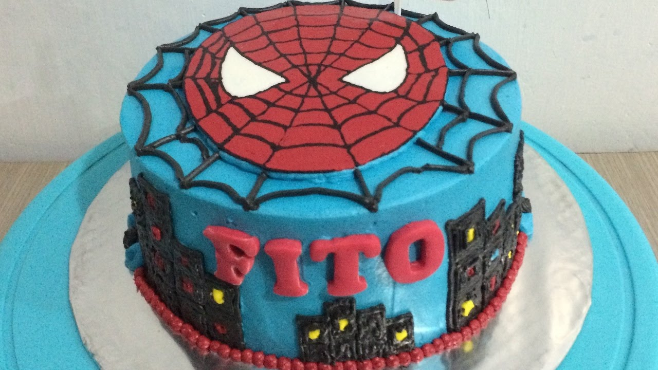 Spiderman cake decoration youtube for Decoration 4 cake