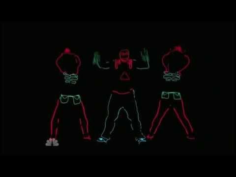America's Got Talent   Team iLuminate  The Black Eyed Peas -- Rock That Body