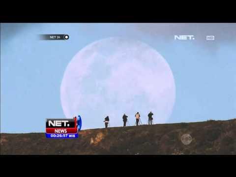 Fenomena Alam Bulan Super atau Supermoon di Selandia Baru - NET24