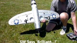 paul shows the p 47 park zone thunderbolt fitted with 15 size e flite retracts