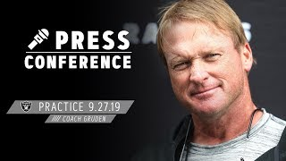Coach Gruden provides an injury update before Week 4 vs. Colts | Raiders