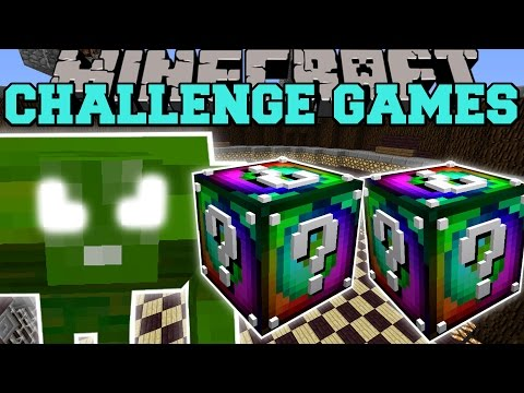 Minecraft: GREEN MONSTER CHALLENGE GAMES - Lucky Block Mod - Modded Mini-Game