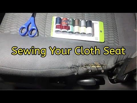 Cloth Seat Repair - Sewing Your Car Seat - Upholstery Repair