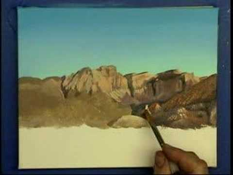 Desert Mountain landscape painting demo - Gary Garrett