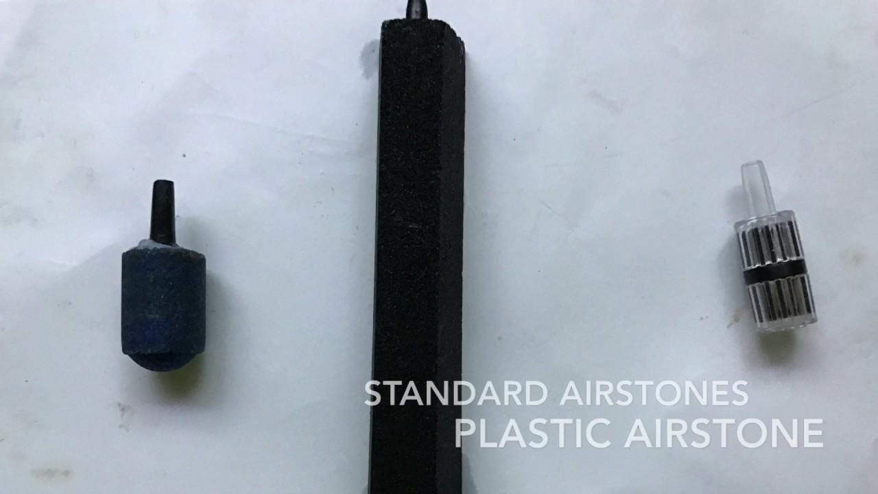 Traditional vs Plastic Airstones - YouTube