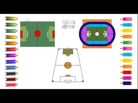how-to-draw-football-field-&-coloring-pages-for-kids-||-learning-videos-for-children.
