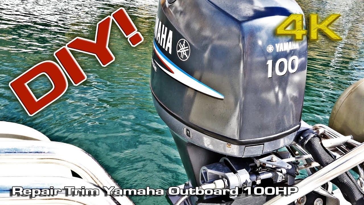 repair trim yamaha outboard 100hp diy 4k  [ 1280 x 720 Pixel ]