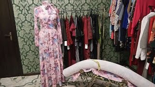 Обзор платья макси, рулон ткани начат