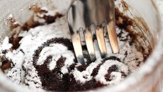 5-minute Nutella Mug Cake Microwave Recipe 전자렌지 누텔라 케이크 만들기 - 한글자막