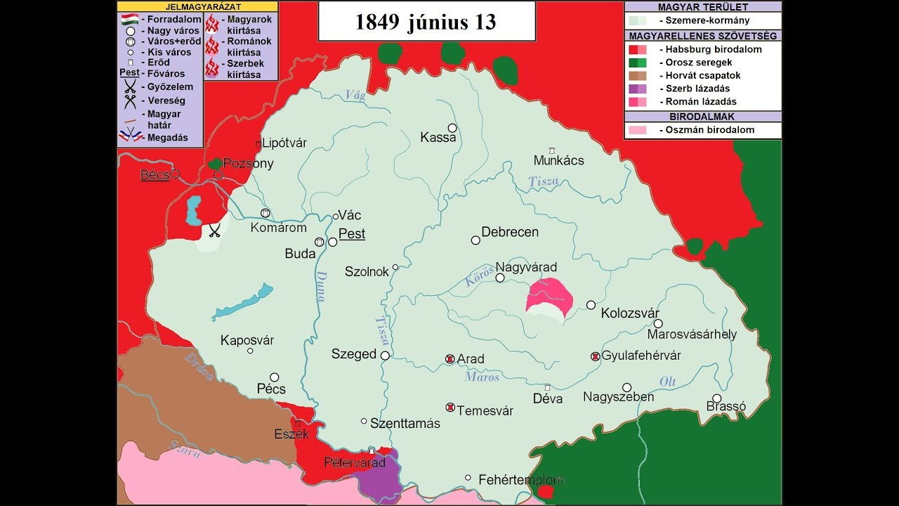 Az 1848 49 Es Magyar Forradalom Es Szabadsagharc Mozgo Terkep Es