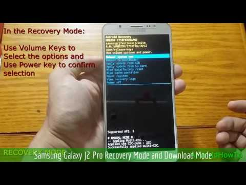 Samsung Galaxy J2 Pro Recovery Mode and Download Mode