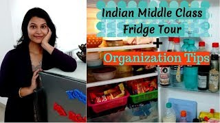#FridgeOrganization छोटे से फ्रिज/Fridge में रखे भरपूर सामान|| Indian fridge organization ideas