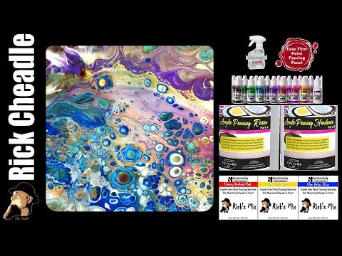 Acrylic Paint Pour: Rick's Mix and Counter Culture DIY Resin on Easy Flow Panel