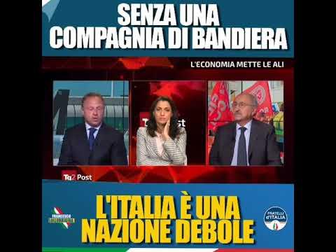 Lollobrigida: Fratelli d'Italia chiede di tutelare la compagnia di bandiera