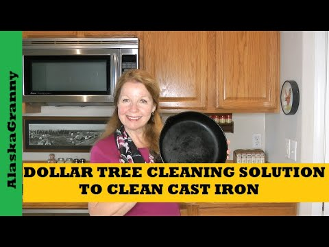 Dollar Tree Cleaning Solution for Cast Iron Cook Ware Easy Way to Clean Cast Iron