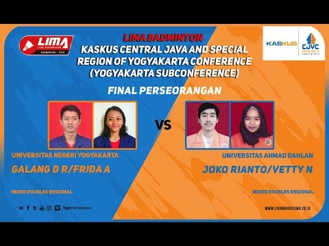 FINAL UNY VS UAD  LIMA Badminton: Kaskus Central Java and Yo
