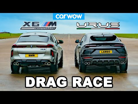 Lamborghini Urus v BMW X6M - DRAG RACE