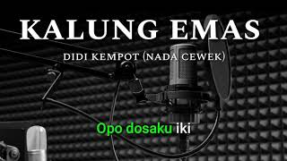 Gambar cover KALUNG EMAS KARAOKE nada cewek (didi kempot)