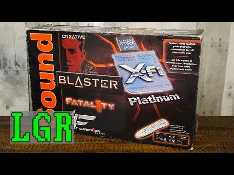 XP Upgrade! Sound Blaster X-Fi Platinum Fatal1ty Sound Card