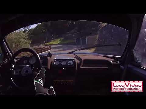 Cameracar Slalom Favale-Castello 2018 Luca Raspini Peugeot 205 classe S4 2°di classe - Terza manche