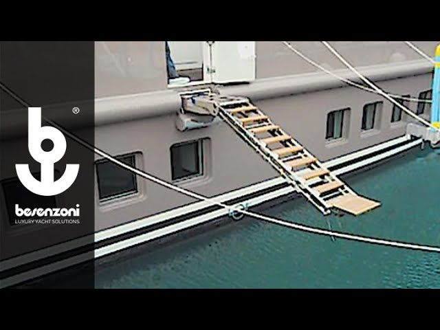 Boarding Ladder SI 405 G for yacht superyacht workboats - Scala imbarco - Besenzoni