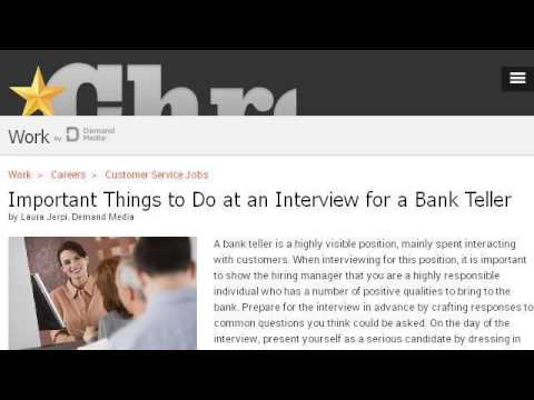 What Does A Bank Teller Do And What Kind Of Training Does She Need