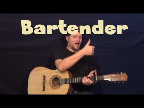 Bartender (Lady Antebellum) Easy Guitar Lesson How to Play Tutorial - SOLO Tab