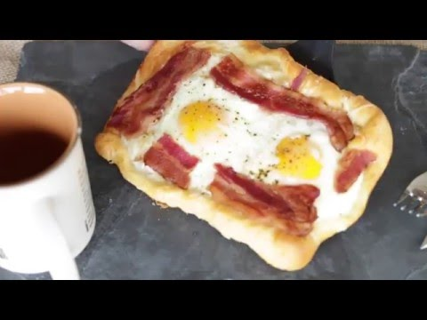 Fancy Bacon And Egg Crescent Squares