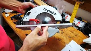 Unpacking / unboxing circular saw Metabo KS 55 FS 600955000