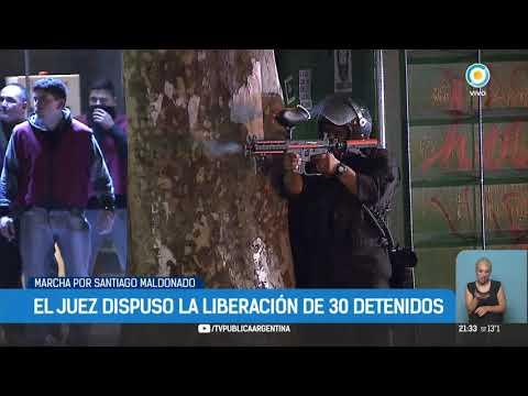 El juez Martínez De Giorgi dispuso la liberación de 30 detenidos tras la marcha por Santiago Maldonado