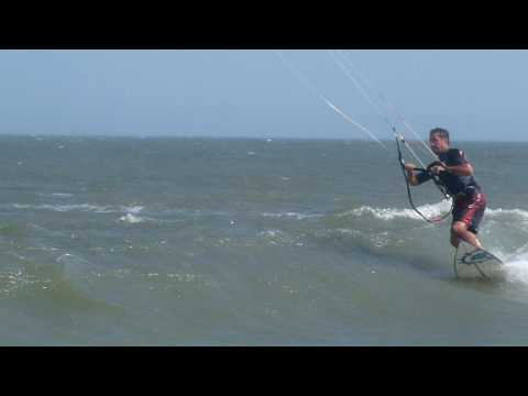 Derek Warren kitesurfing Key Box Beach Dewey Delaware USA